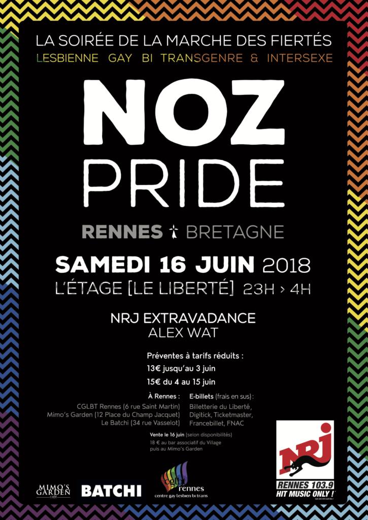 Affiche Noz Pride 2018