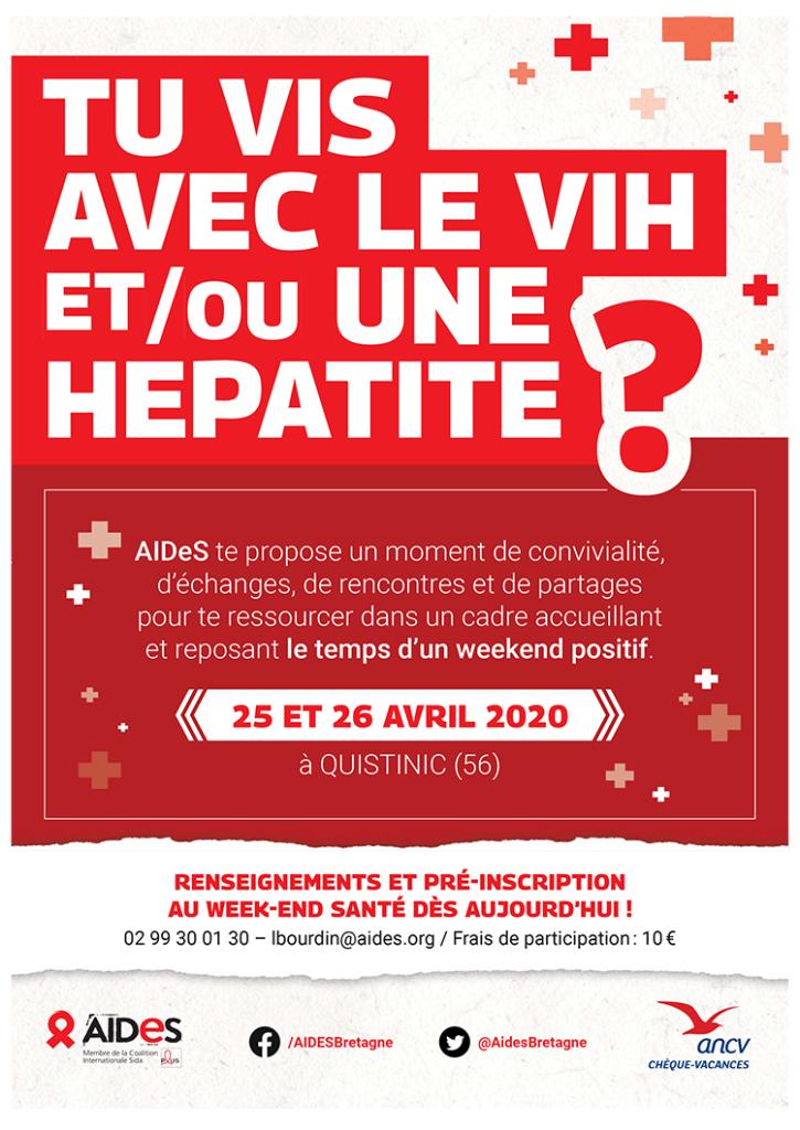 Tu vis avec le VIH et/ou une hépatite ? 25 et 26 avril
