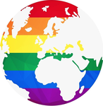 Globe terrestre rainbow