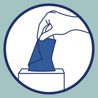 Geste barrière des mouchoirs jetables