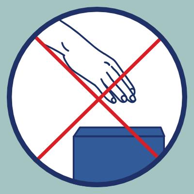 Geste barrière de ne pas toucher les surfaces