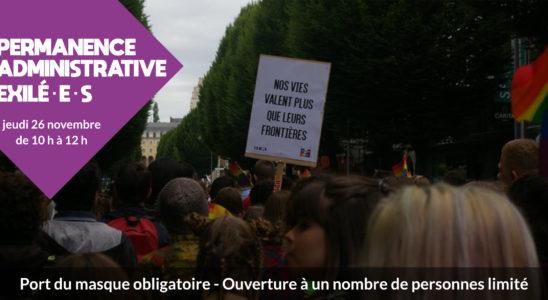 Visuel de la permanence administrative du 26/1//2020