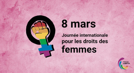 Visuel du 8 mars de la Fédération LGBTI+