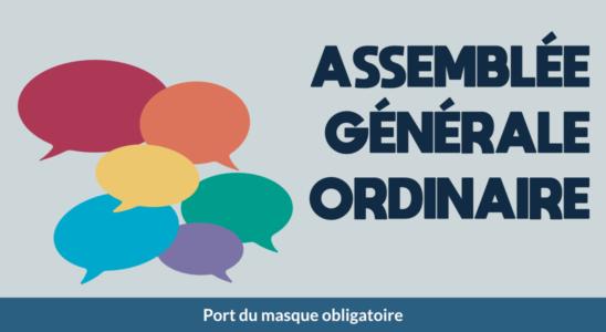 Visuel de l'assemblée générale ordinaire
