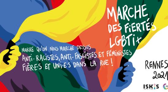 Visuel de la Marche des Fiertés LGBTI+ 2021 de Rennes