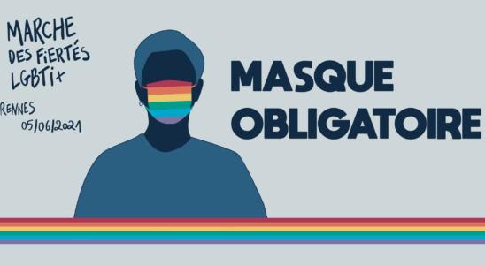 visuel masque obligatoire Marche des Fiertés
