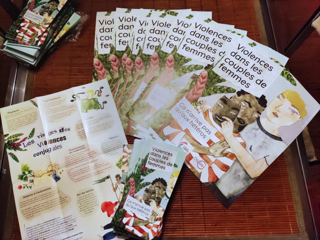 Affiches et dépliants de la campagne Violences dans les couples de femmes